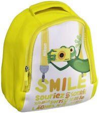 Nikon Kinder Foto Rucksack gelb mit Frosch Motiv Neopren für Coolpix W150 Kamera