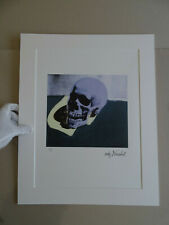 ANDY WARHOL, Skull SIGNED AND HAND NUMBERED LITHOGRAPH