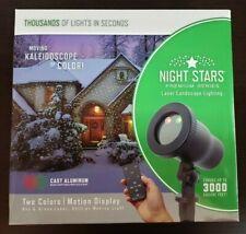 Viatek Night Stars Premium Series Laser Landscape Lighting Red Green Nib