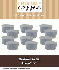 12 Krups Style F472 Duo Charcoal Water Filters Fit FMF FME 629 619 180 176 466