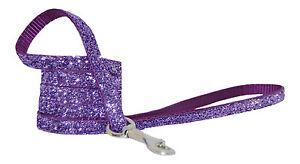 purple sparkle chihuahua dog/puppy lead fabric handmade