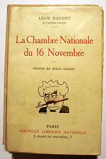 CARICATURE/J.SENNEP/LEON DAUDET/LA CHAMBRE NATIONALE DU 16 NOVEMBRE/1923/
