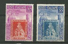 1951 ITALIA  NUOVI SERIE FRANCOBOLLI DI TOSCANA  MNH **  LIRE 20 + 55