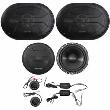 """HIFONICS ZS65C 6.5"""" 400W Component Car Speakers + (2) 6x9"""" 800w Coaxial Speakers"""