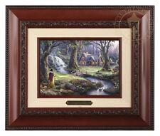 Thomas Kinkade Snow White Framed Brushwork (Brandy Frame)