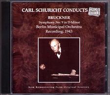 Carl SCHURICHT: BRUCKNER Symphony No.9 1943 Iron Needle CD Berlin Municipal Orch