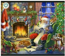 Santa's List Digital Panel cotton quilt fabric Christmas 36