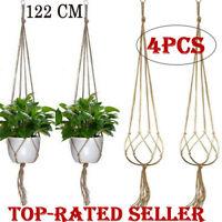 Macrame Plant Hanger Vintage Rope Basket Outdoor Pot Holder Flower Garden