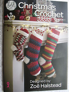 KING COLE CHRISTMAS CROCHET  BOOK 1.  DESIGNED BY ZOE HALSTEAD.