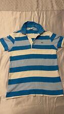Camisa Polo Lacoste-Azul a Rayas-Pequeño
