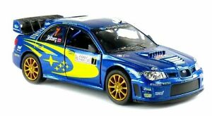 Subaru Impreza WRC 2007 Car Model Rally Sports 1:36 Scale Diecast Metal Kinsmart