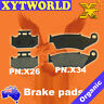 FRONT REAR Brake Pads for Kawasaki KLX 250 1993-1997