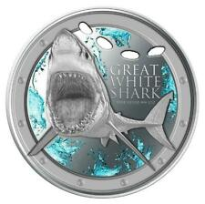 2012 Niue Islands Great White Shark 1oz Silver Proof Coin
