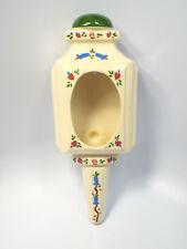 Vintage Douglas Studio Floral Heart Design Sconce Look Wall Pocket