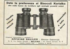 W0896 Date la preferenza ai binocoli KORISTKA - Pubblicità 1930 - Advertising