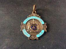 Vintage 1935 South Leeds Schools Enamel Swimming Sports Medal Pendant 100 yards