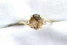 14Kt REAL Yellow Gold 8x6 Oval Golden Topaz Gem Gemstone Ladies Ring Size 6.25