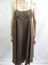 Scanlan and Theodore Size 10 Brown Designer Dress