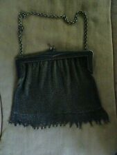 """c1920s Robert Kraft Chain Mail Metal Alloy Mesh Purse With Chain & Clasp 6 1/2"""""""