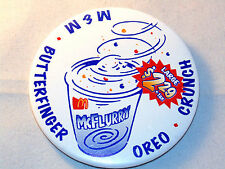 M&M, Butterfinger, Oreo, and Crunch McFlurry McDonald's Button