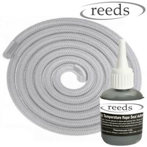 Stove Rope and Glue Kit for Wood Burning Stoves Door & Glass Fire Seals