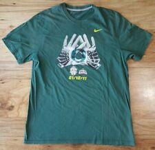 NIKE UNIVERSITY of OREGON DUCKS BCS 2011 Bowl T-Shirt Size XL 1/10/11