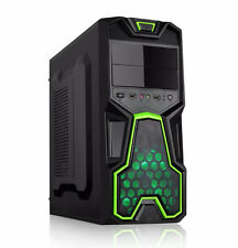 Dynamode Lockstock GC356 ATX Tower Gaming PC Case with Front USB3.0 & Green Fan
