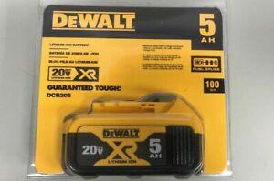 DeWalt DCB205 20V MAX XR 5AH Li-Ion Battery BRAND New