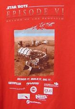 NASA Robotic Mining Competition T-Shirt XL Red Star Bots Return of the Regolith