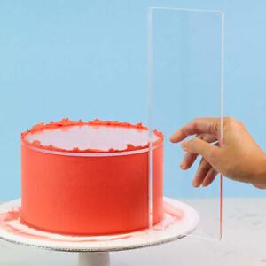 Large Clear Acrylic Cake Scraper Baking Cake Cream Smoother Edge Side Scraper