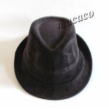 CAPPELLO uomo donna borsalino invernale panama tessuto fustagno nero  16076