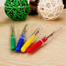 4pcs Thread Cutter Seam Ripper Stitch Unpicker Sewing Plastic Handle Craft Tools