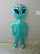 """1 NEW INFLATABLE GREEN GIRL ALIEN 60"""" BLOW UP INFLATE GIRLY ALIENS HALLOWEEN"""