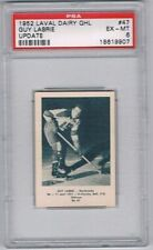 1952 Laval Dairy QHL Update Hockey Card Sherbrooke #47 Guy Labrie Graded PSA 6
