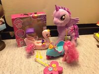 LOT HTF 2014 My Little pony Friendship is Magic Pinkie Pie Swan Remote scooter &