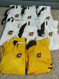 Central Michigan Chippewas Football Pants Adidas Gold White LOT 8 Game Used Worn