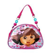Nickelodeon Dora the Explorer Handbag Sparkly Glitter Bow Beaded Strap Purse NWT
