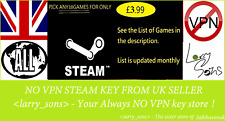 Pick your 10 Steam key for 3.99 New Games keep coming RegionFree NOVPN UKSELLER