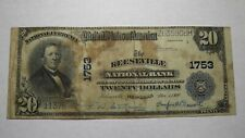 $20 1902 Keeseville New York NY National Currency Bank Note Bill! Ch. #1753 RARE