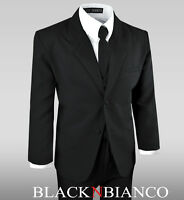 Formal or Casual Boy Kids Suit in Black or White Tuxedo Set All Sizes