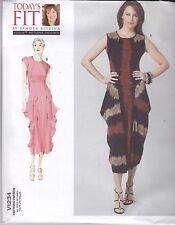 Vogue Original Patrón de costura Sandra Betzina Suelto Ajuste Vestido V1234