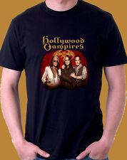 The Hollywood Vampires Concert Tour Black  t shirt Jonny Depp alice cooper S-3XL