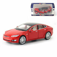 Tesla Model S 100D 1:32 Model Car Diecast Toy Vehicle Collection Kids Gift Red