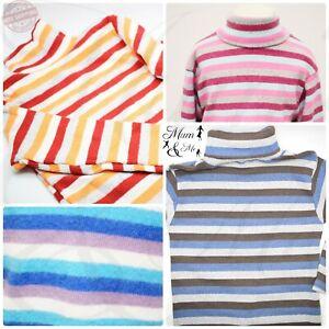 Kids Boys Girls Toddler Unisex Polo Top Cotton Roll High Neck Long Sleeve Jumper