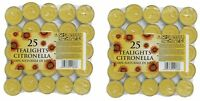 50 X PRICES CITRONELLA TEALIGHT FRAGRANCED CANDLES FOR GARDENS PATIO WASP