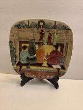 Vintage 1978 Royal Doulton ~ Christmas in America ~ John Beswick Ceramic Plate