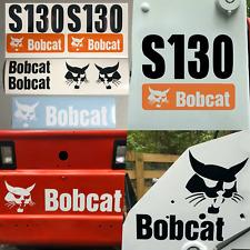 Bobcat S130 (SET OF 7) Skid Steer Replacement Aftermarket Vinyl Decal Sticker