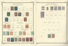 South Australia Stamp Collection 1855 to 1909 on 12 Scott Specialty Pages