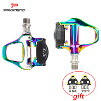 PROMEND Bicycle Self-Locking Pedals Road Bike SPD-SL Clipless Pedals w/ Cleats