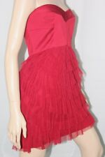 $368 New Women's BCBG RIORED Pleated Ruffled Tulle Strapless Dress SZ 4P